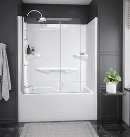"Longevity Horizon I 1560 60"" 1pc Tub/Shower- Left Drain White"