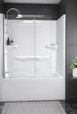 """Longevity Horizon II 1562 60"""" 2pc Tub/Shower- Right Drain White"""