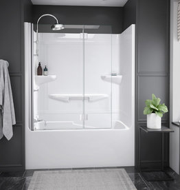"Longevity Horizon II 1562 60"" 2pc Tub/Shower- Left Drain White"