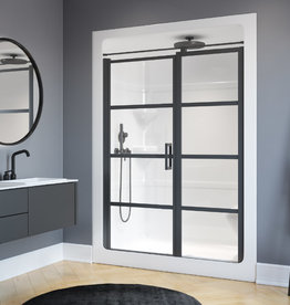 "Longevity Prestige 2263 60"" 3pc Shower Centre Drain- NO Seat White"