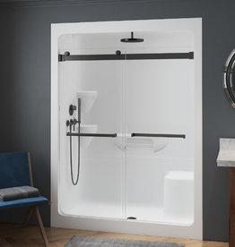 "Longevity Heritage 9160 60"" 1pc Shower Right Drain- NO Seat White"