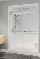 """Longevity Exelsa III-D 1663-D 60"""" 3pc Shower Centre Drain- NO Seat White"""