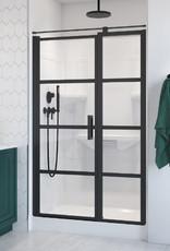 """Longevity Rideau II 1642 48"""" 2pc Shower Centre Drain- Left Seat White"""