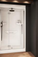 """Longevity Rideau I-D 1648-D 48"""" 1pc Shower Centre Drain- NO Seat White"""