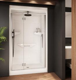 "Longevity Rideau III-D 1643-D 48"" 3pc Shower Centre Drain- Right Seat White"