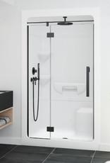 "Longevity Acadia 2043 48"" 3pc Shower Centre Drain- Right Seat White"