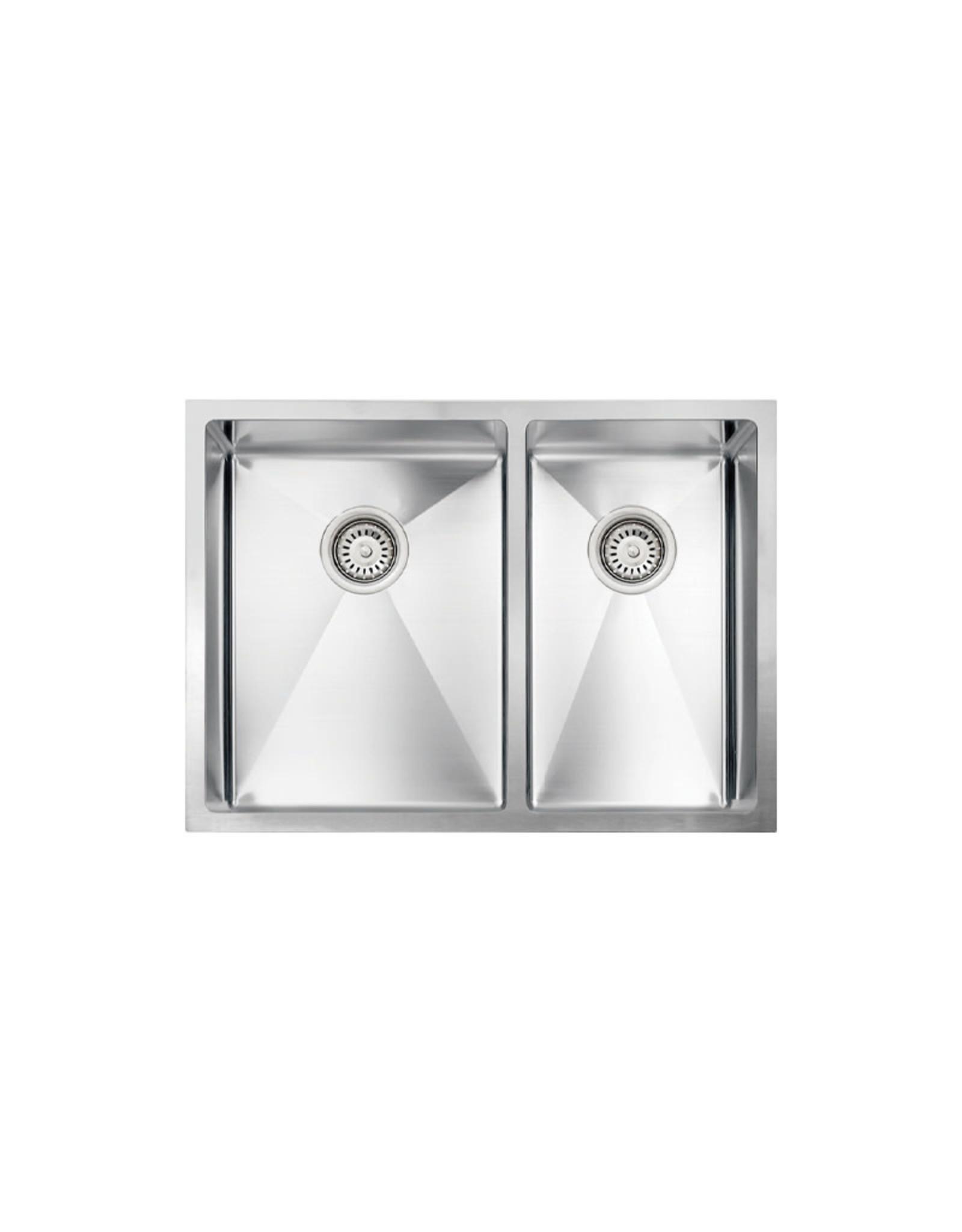"""Vogt Leoben 18R Undermount Kitchen Sink Double Bowl (60/40) 26"""" x 18"""" x 9""""/8"""""""