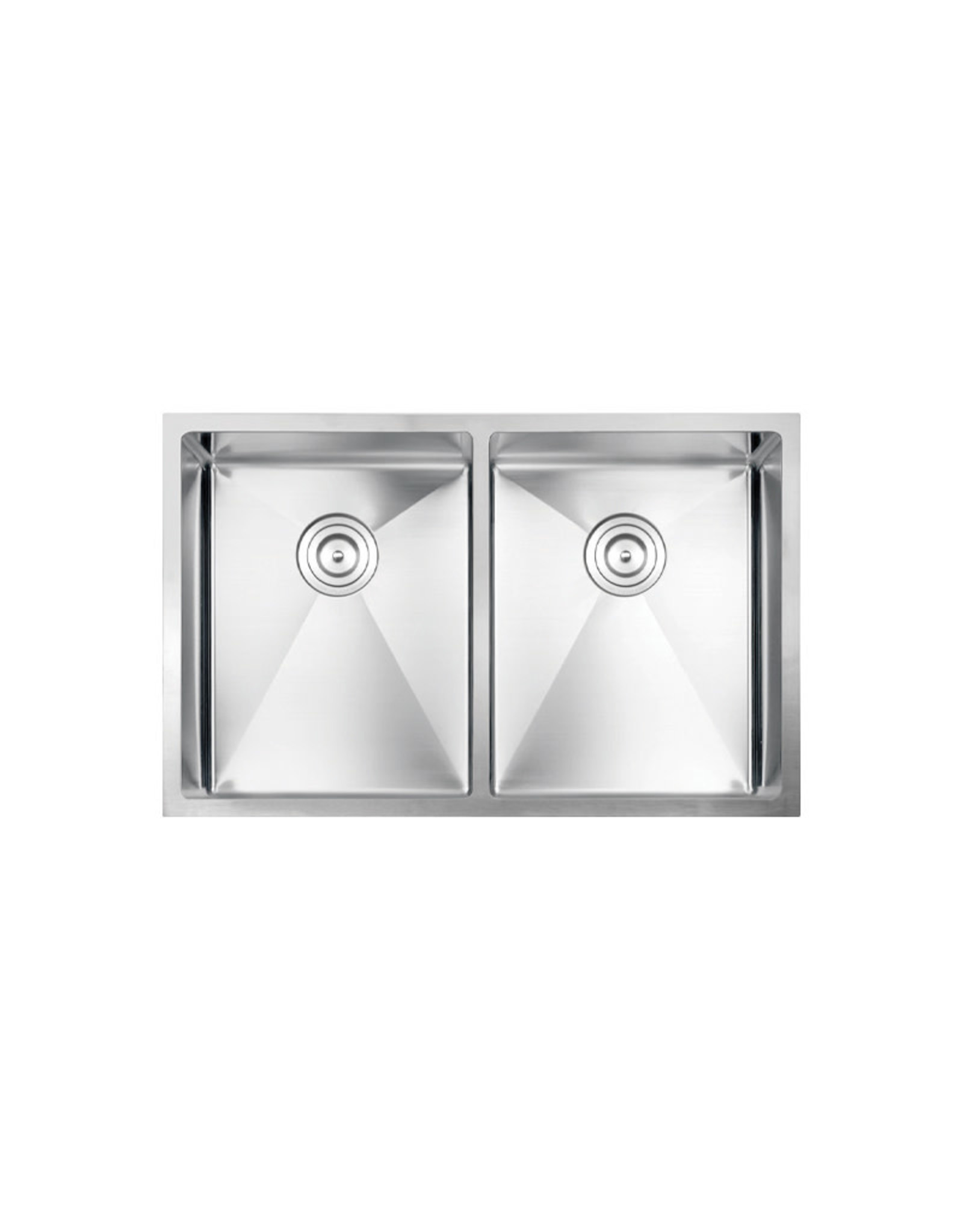 "Vogt Modling 16R Undermount Kitchen Sink Double Bowl (50/50) 30"" x 18"" x 10"" With Bottom Grates"