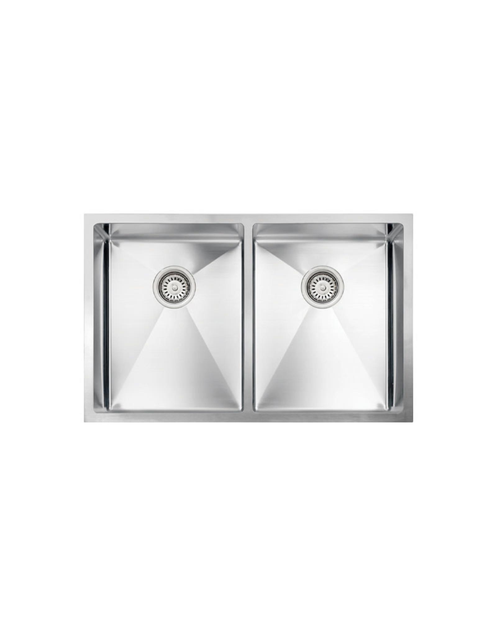 """Vogt Modling 18R Undermount Kitchen Sink Double Bowl (50/50) 30"""" x 18"""" x 10"""""""