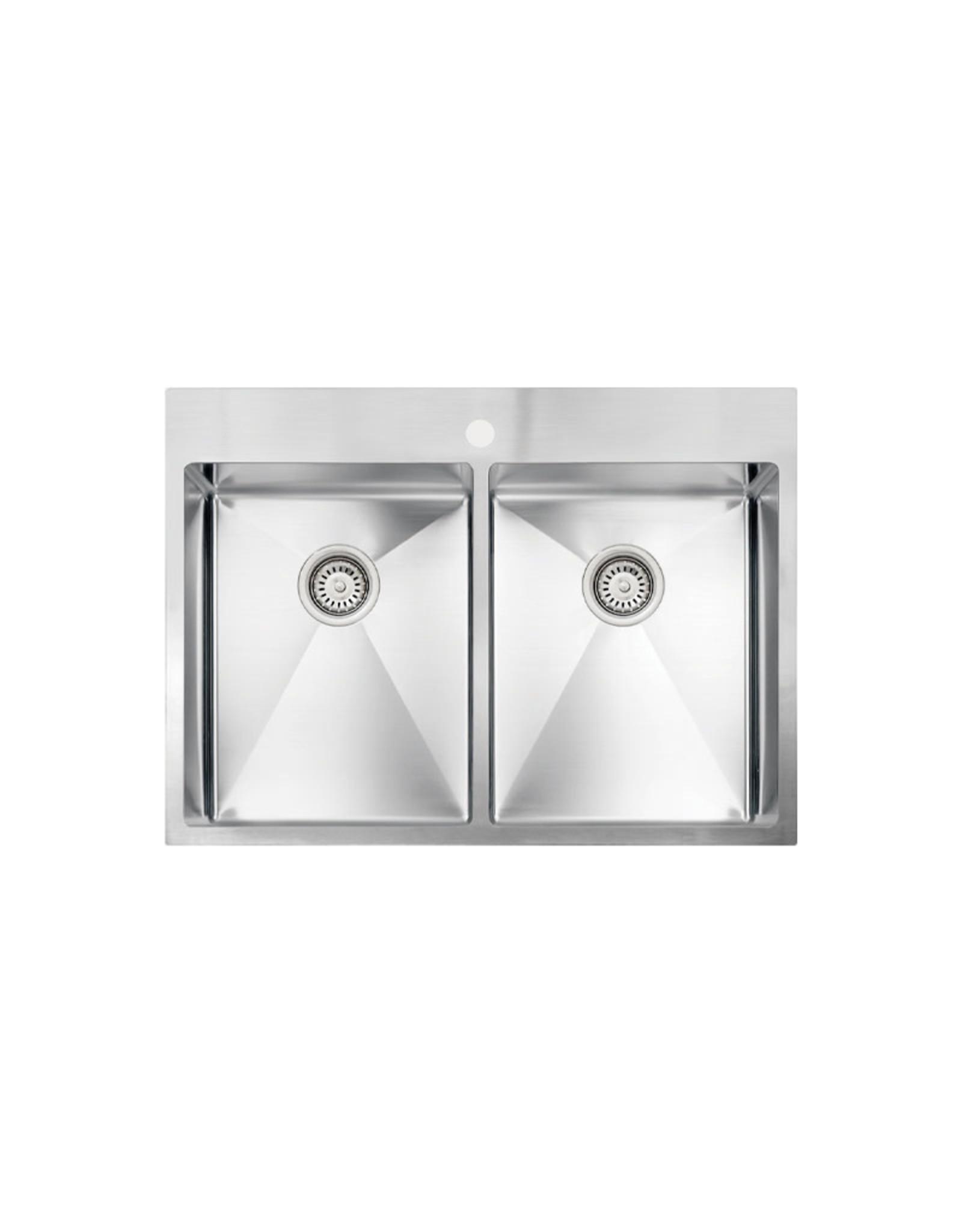 """Vogt Rankweil 18R Drop-In Kitchen Sink 30"""" x 20"""" x 9"""""""