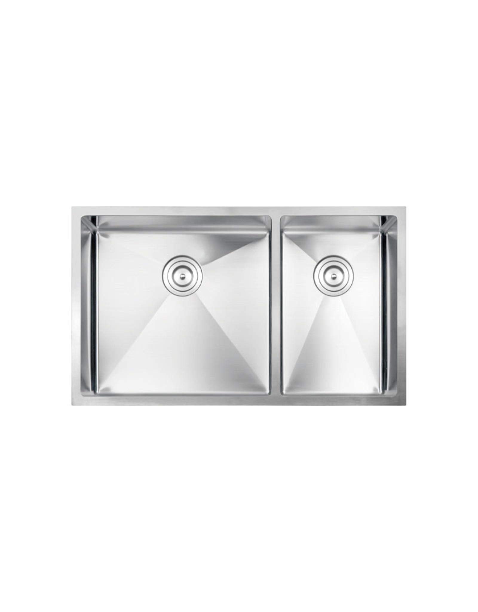 """Vogt Villach 16R Undermount Kitchen Sink Double Bowl (60/40) 32"""" x 18"""" x 10"""""""