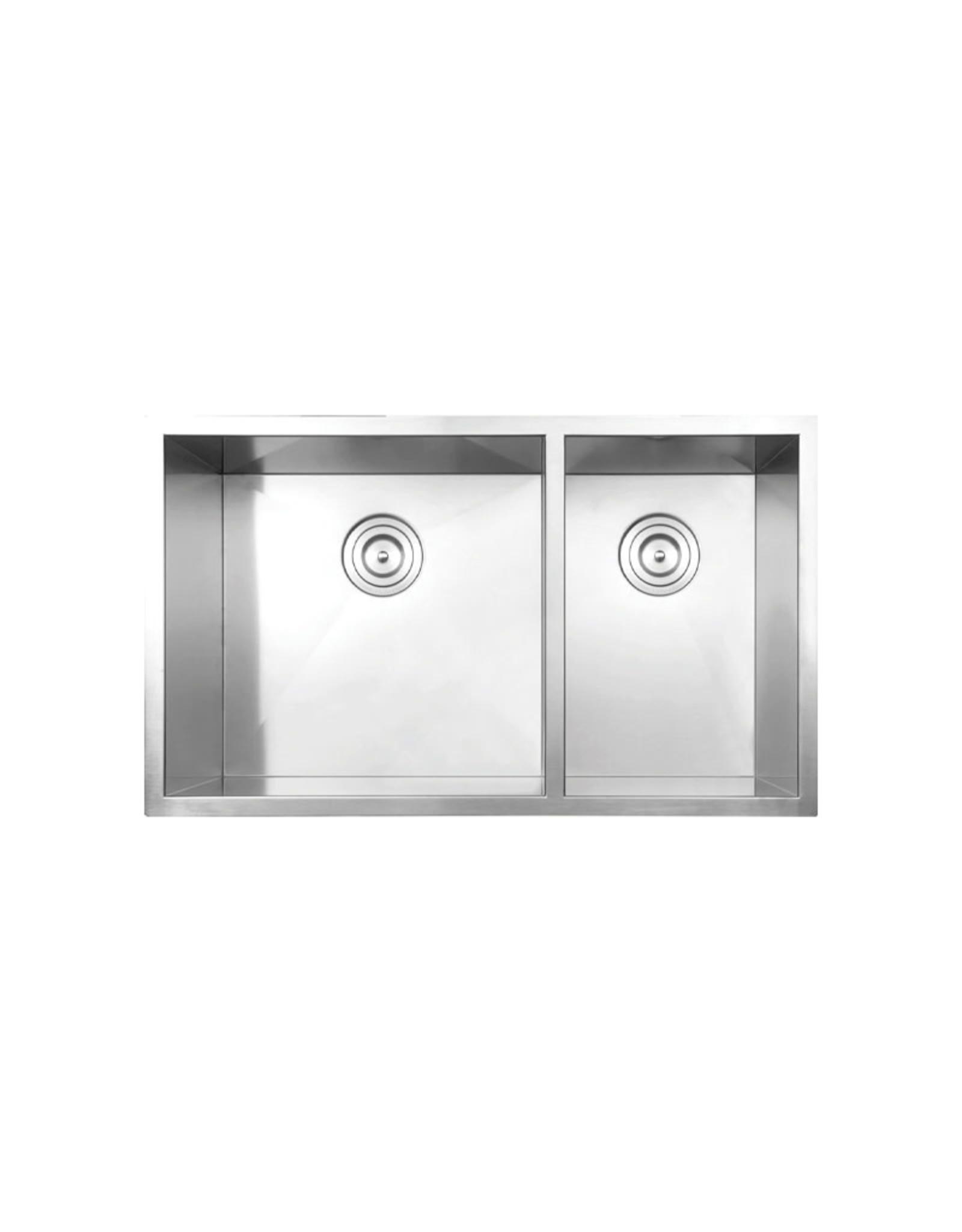 """Vogt Villach 16Z Undermount Kitchen Sink Double Bowl (60/40) 32"""" x 18"""" x 10"""""""