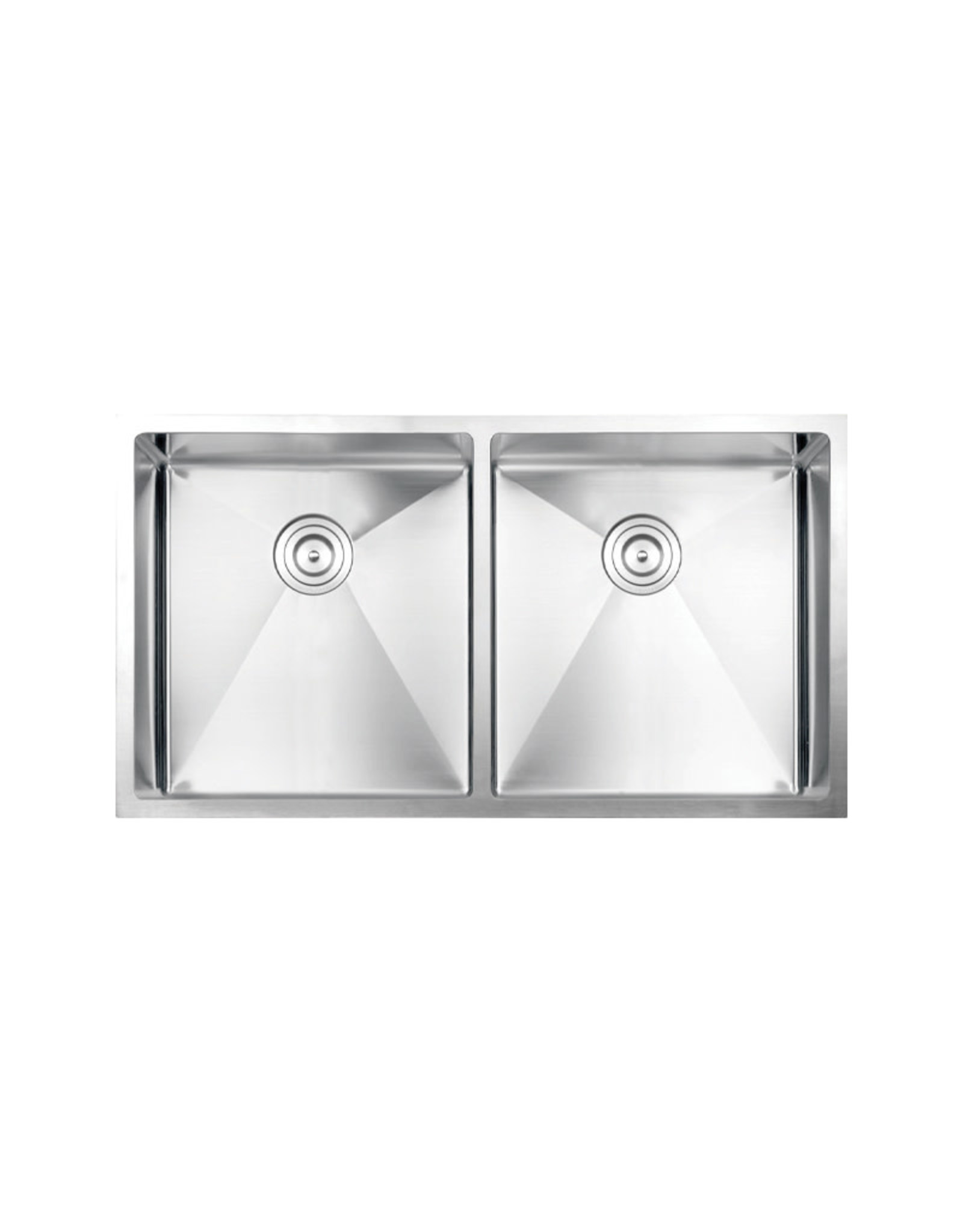 "Vogt Volker 16R Undermount Kitchen Sink Double Bowl (50/50) 34"" x 18"" x 10"""