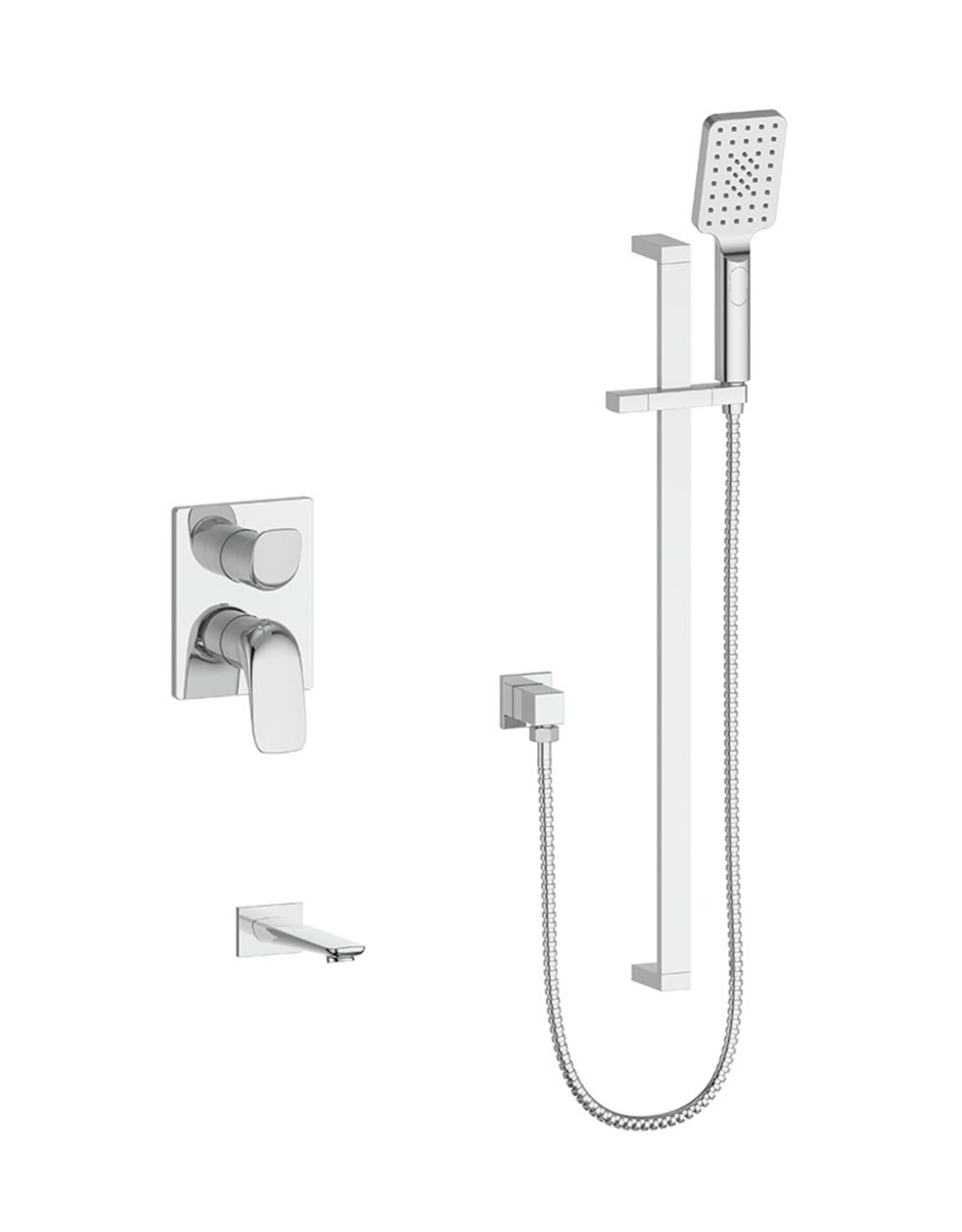 Vogt VOGT - ANTAU CHROME 2-WAY PRESSURE BALANCED SHOWER KIT