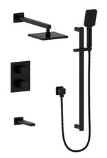 Vogt VOGT - NIVEAU MATTE BLACK 3-WAY THERMOSTATIC SHOWER SYSTEM