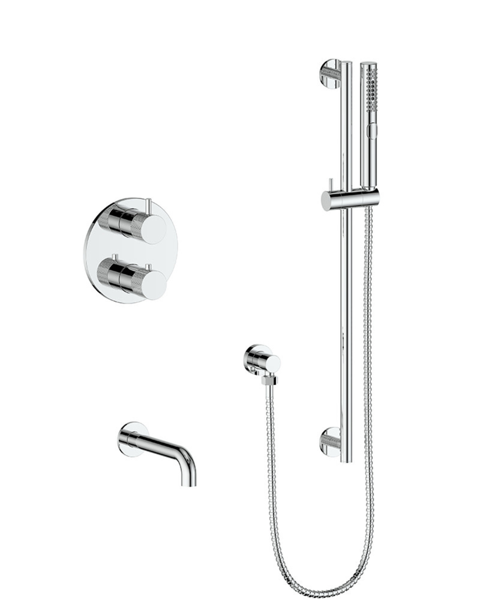 Vogt Drava 2-Way Thermostatic Shower System- Chrome