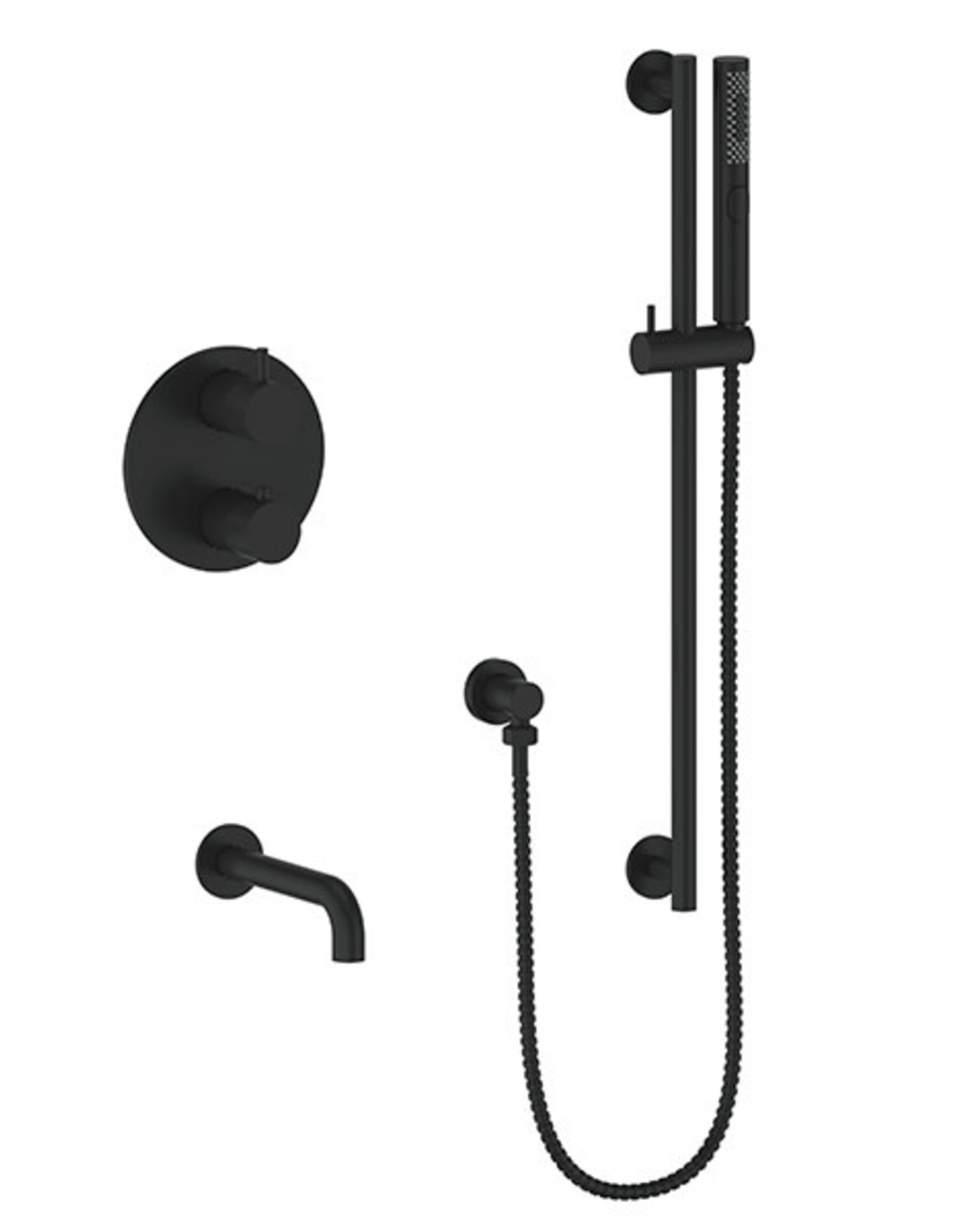 Vogt Drava 2-Way Thermostatic Shower System- Matte Black