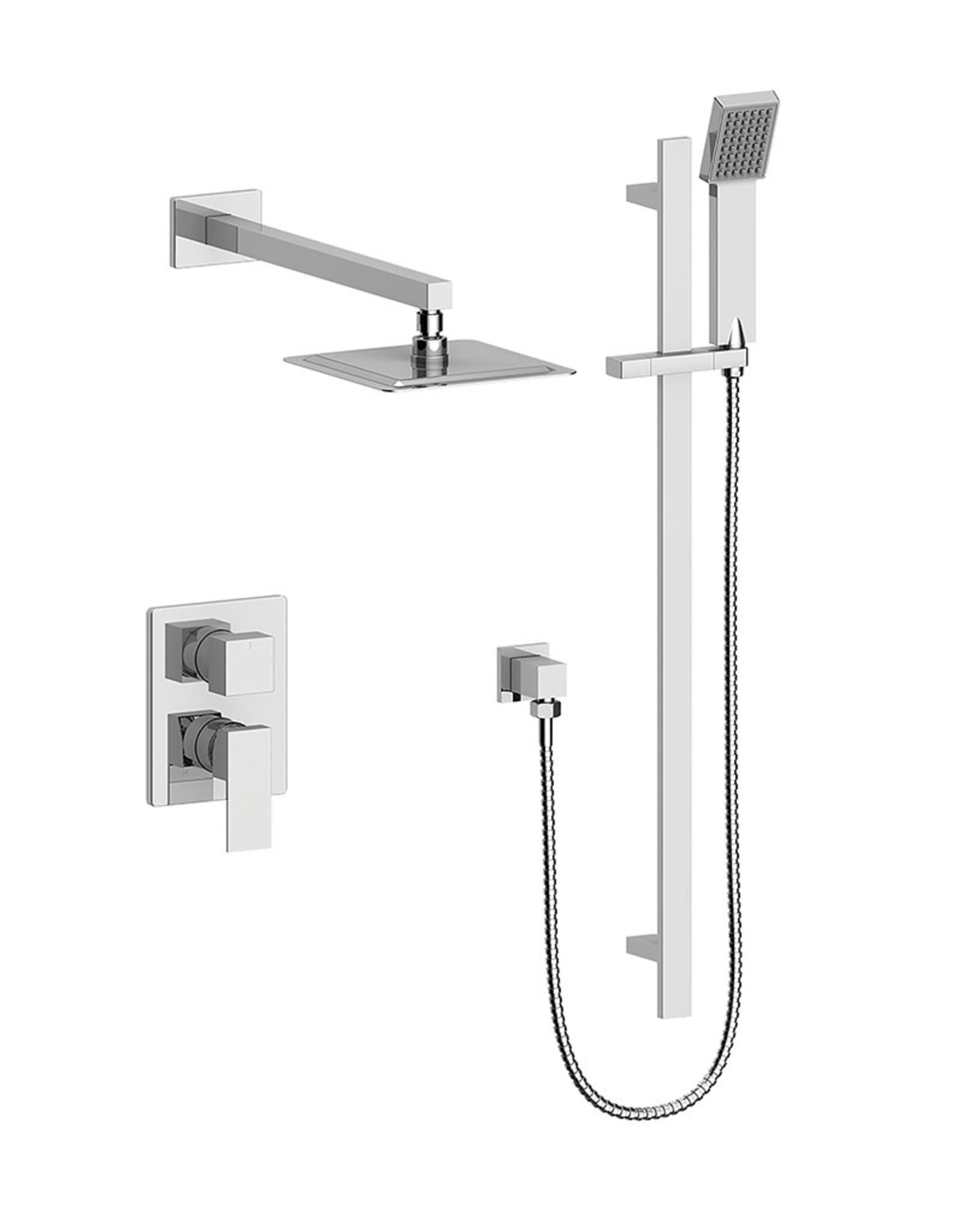 Vogt Kapfenberg- 2-Way Pressure Balanced Shower Kit- Handheld With Rainhead- Chrome