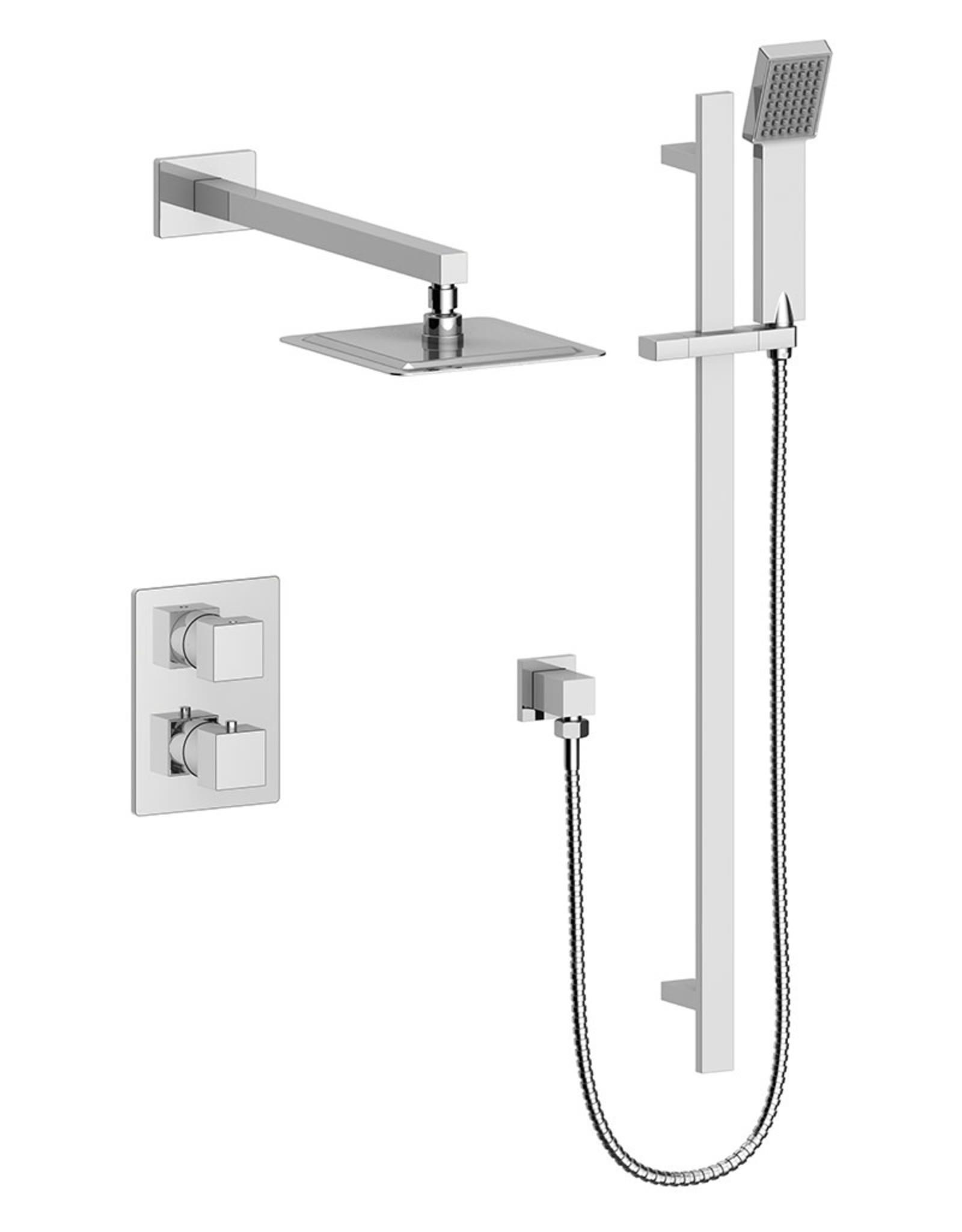Vogt Kapfenberg- 2-Way Thermostatic Shower Kit NO SPOUT- Chrome