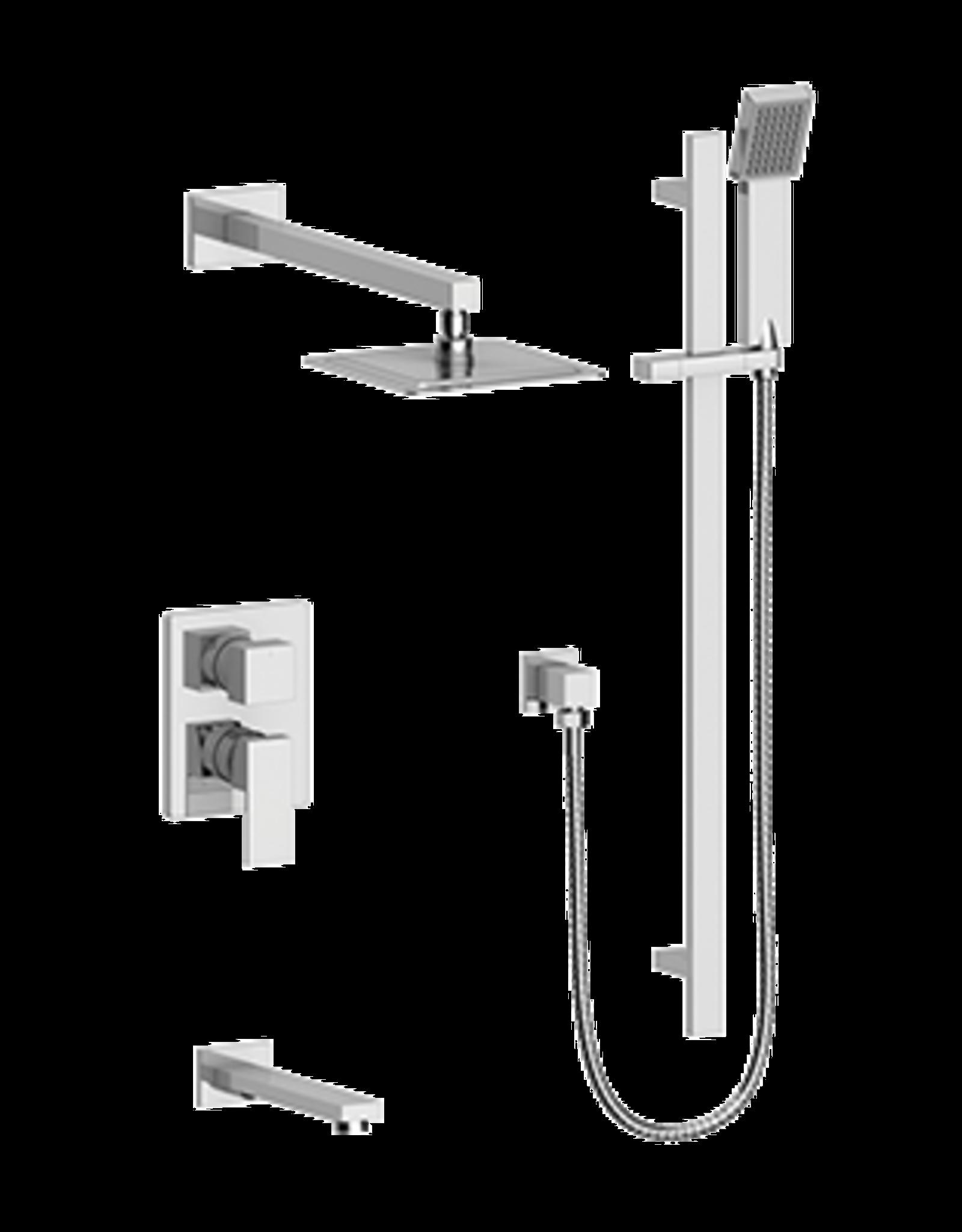 Vogt Kapfenberg- 3-Way Pressure Balanced Shower Kit- Chrome