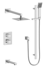 Vogt Kapfenberg- 3-Way Thermostatic Shower Kit- Chrome