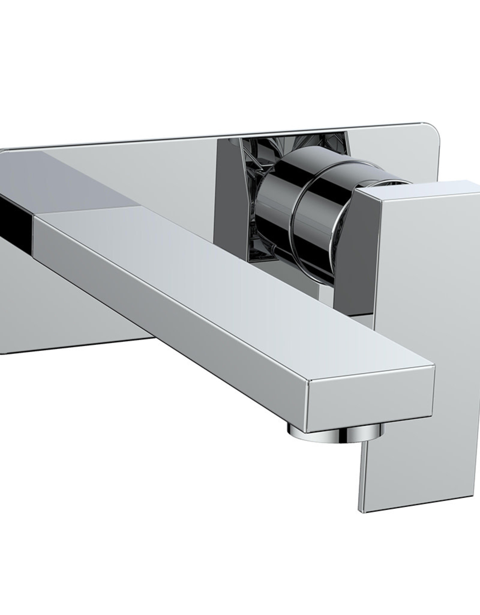 Vogt Kapfenberg- Wall Mounted Lav Faucet W/ Backplate- Chrome