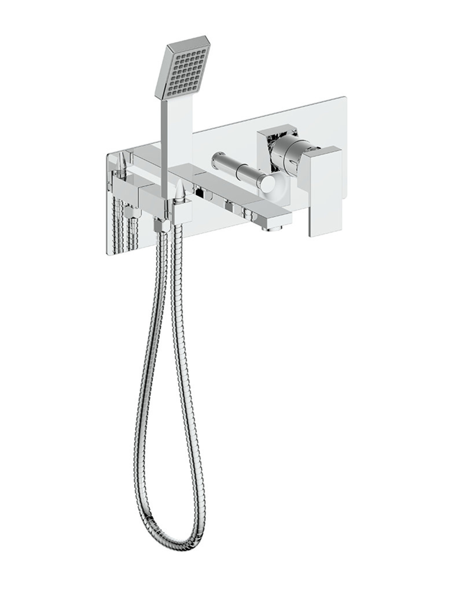 Vogt Kapfenberg- Wall Mounted Tub Filler- Chrome
