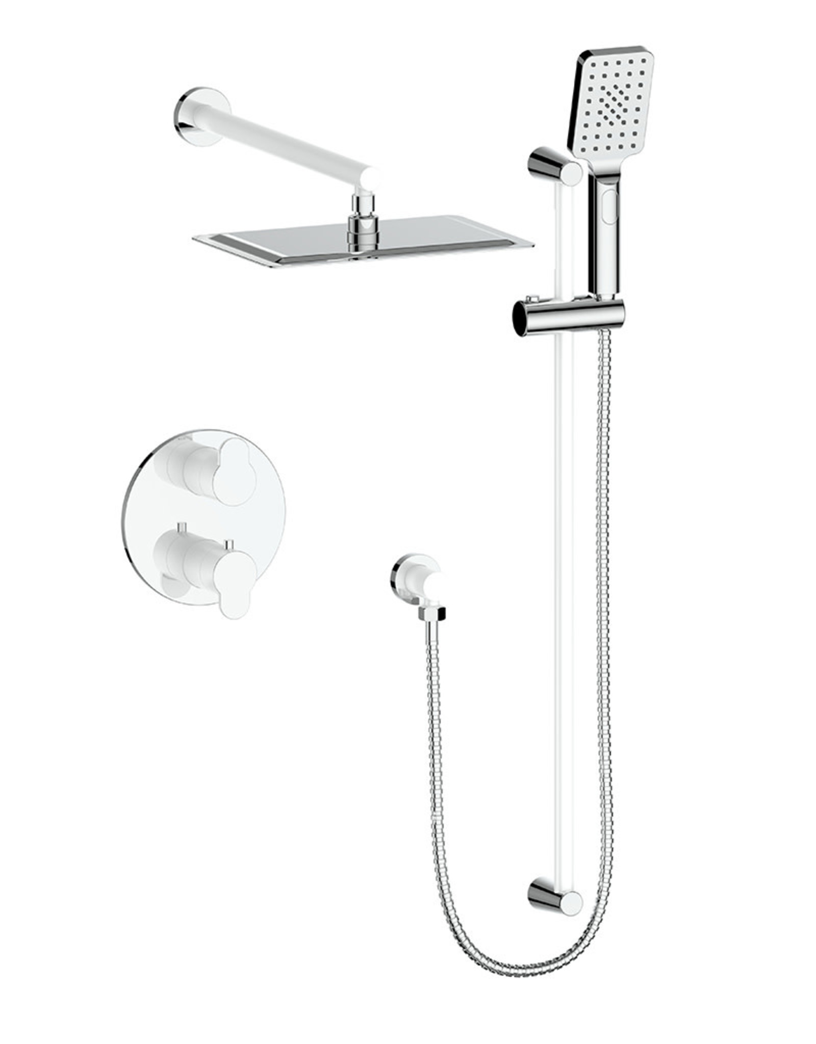 VOGT LUSTEN - 2-WAY THERMOSTATIC SHOWER KIT CHROME- NO SPOUT