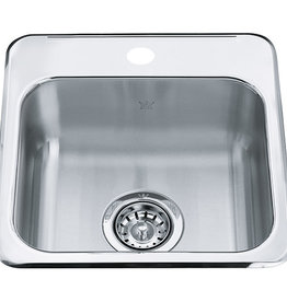 Kindred Reginox RSL1515-6 Single Hole Bar Sink