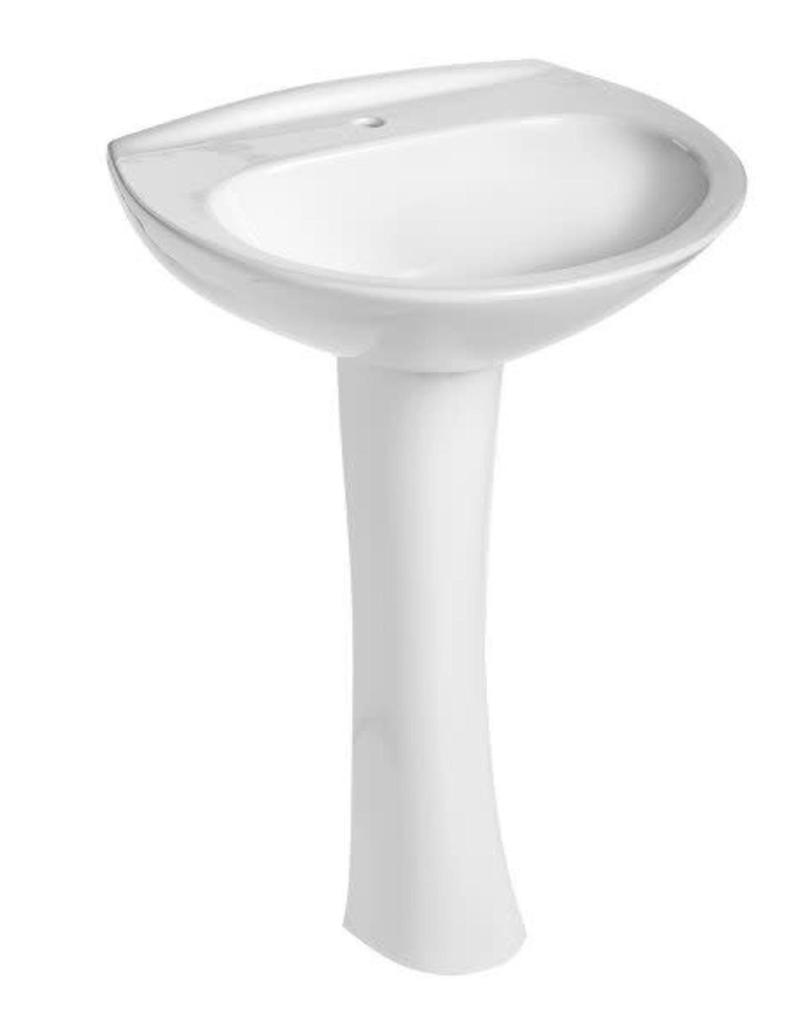 Mansfield Mansfield Alto Pedestal Combo- White Single Hole