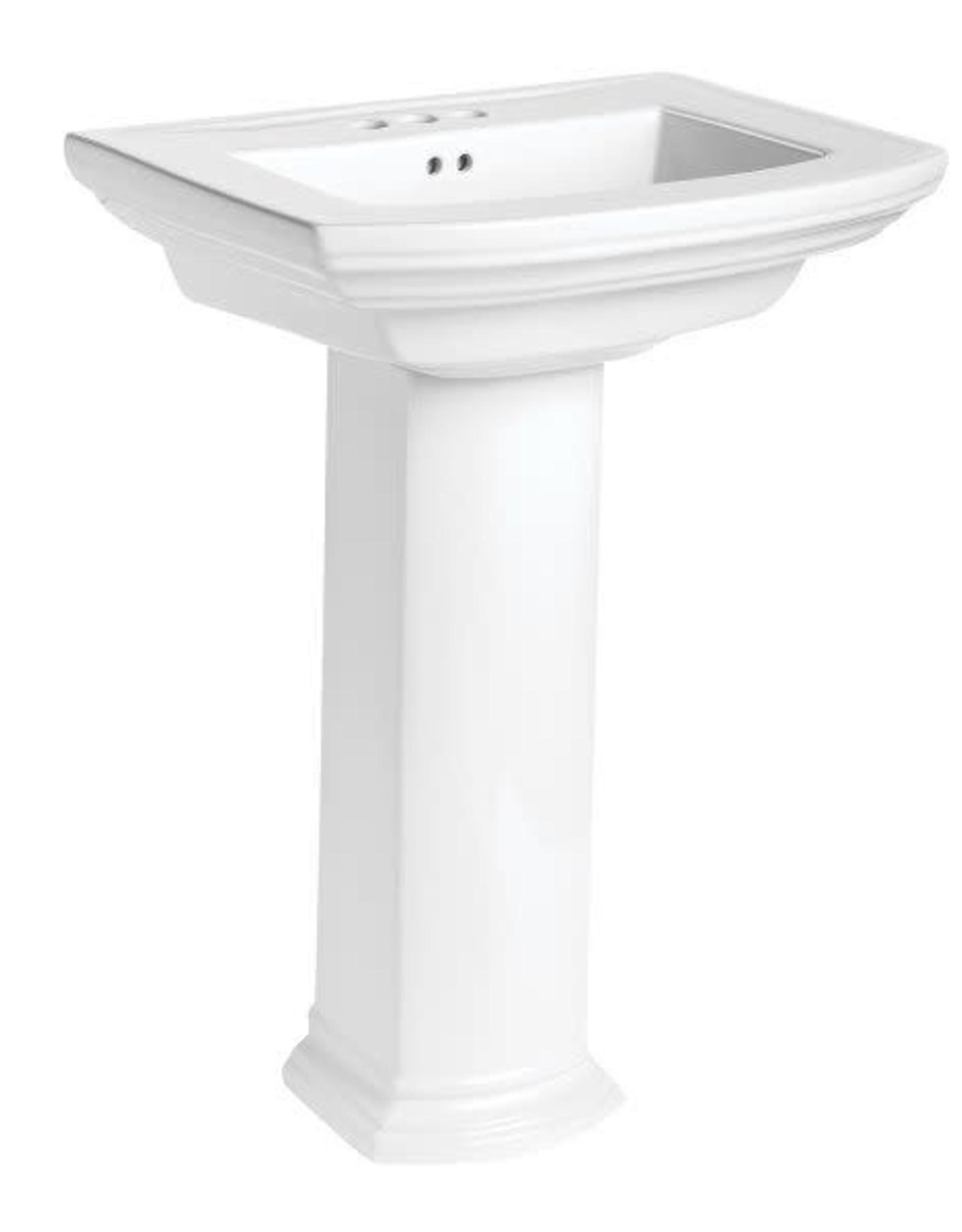 Mansfield Mansfield Barrett Pedestal Sink Combo- Single Hole White