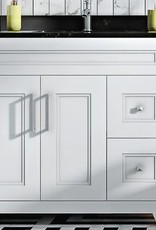 """Classic Brand Cabinetry Classic Brand Cabinetry 36"""" Vanity- Drawers on Right w Quartz Sink and Top"""