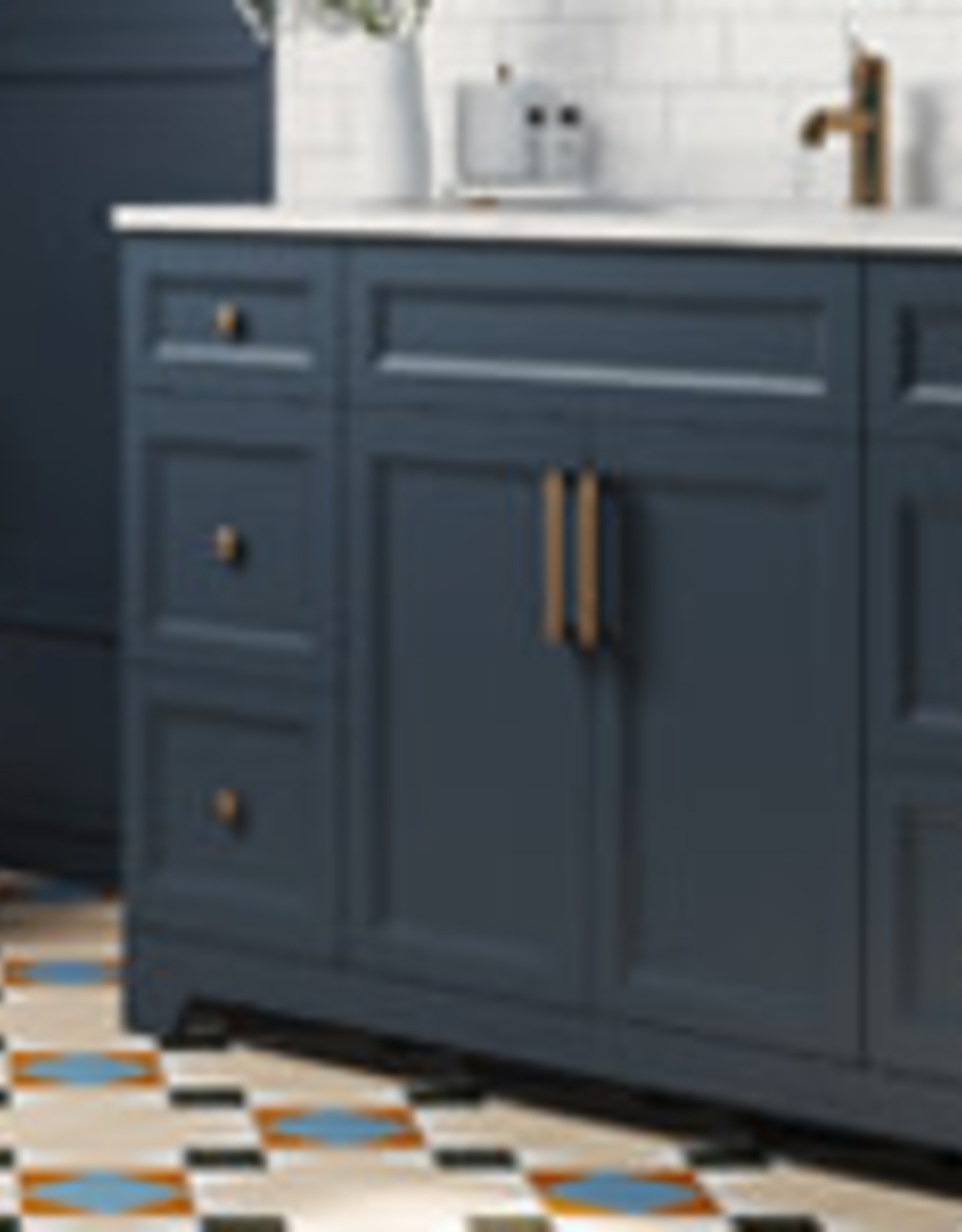 """Classic Brand Cabinetry 54"""" Vanity w Quartz Sink and Top"""