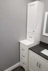 Classic Brand Cabinetry Step Linen Tower- Left Hinge