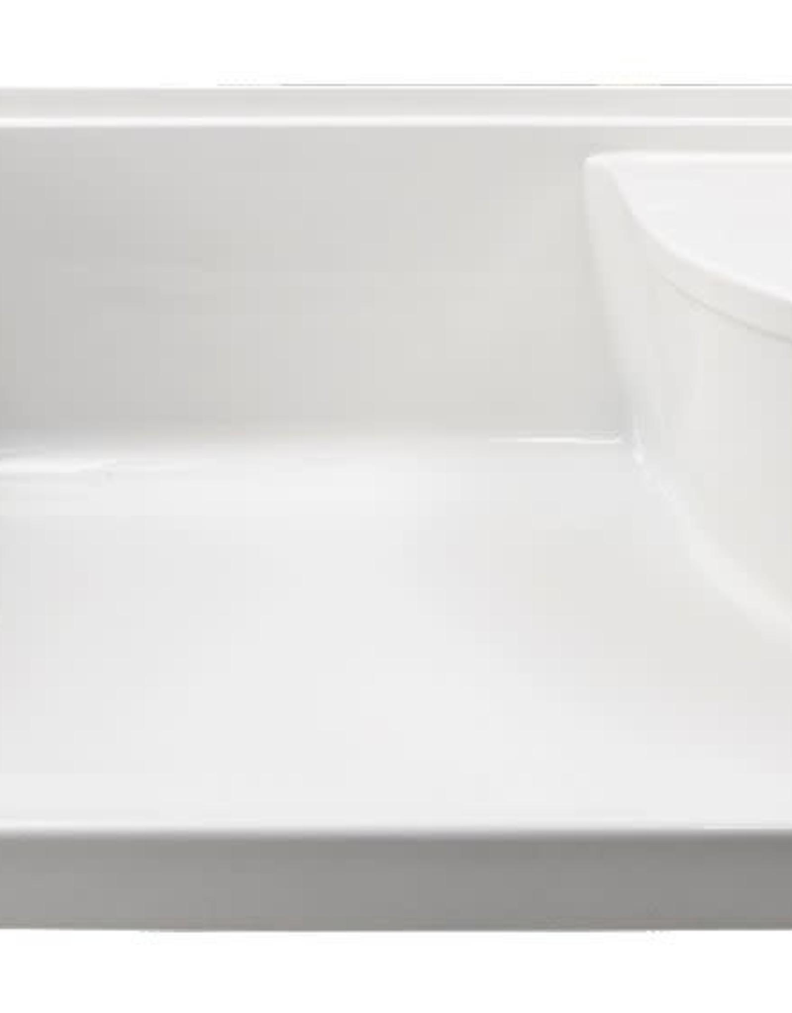 "Mirolin Mirolin Ellis 60""x36"" Shower Base w Left Seat White"