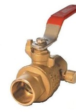 "1/2"" Copper Brass Ball Valve w/ Drain"