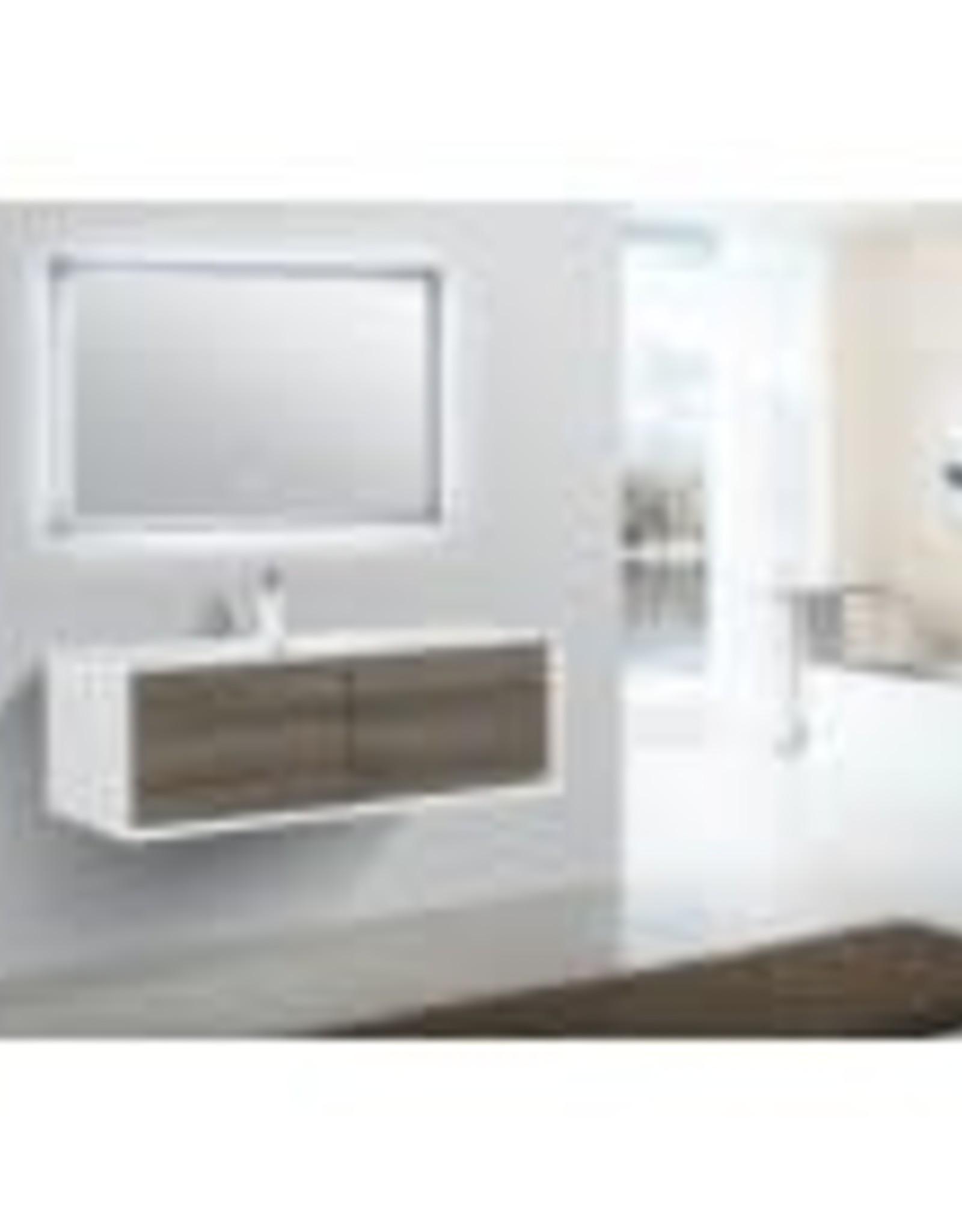"Classic Brand Cabinetry Skandia 48"" Wallmount Vanity w Top Undermount Sink Grey Face"
