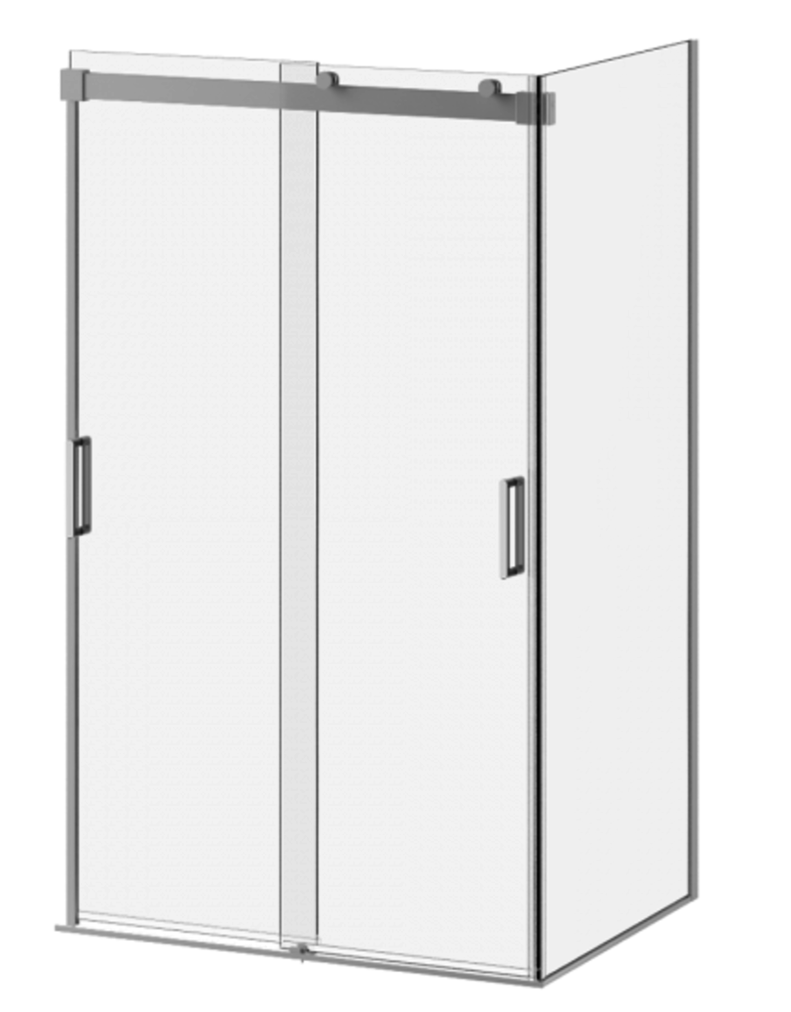 "Kalia Kalia Akcess Frameless 2-Panel Sliding Shower Door 48"" x 36"" Corner Install- Chrome/Clear"