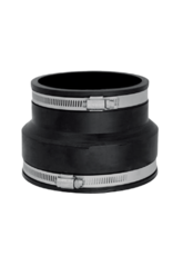 """4"""" Clay x 4"""" Pipe Rubber Coupling"""