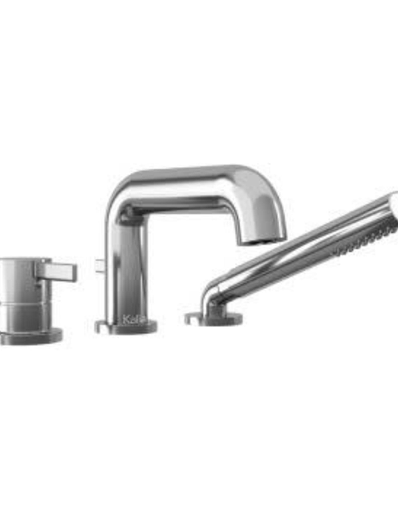 Kalia Kalia Basico Deckmount Tub Filler w/ Handshower w/ R.I.- Chrome