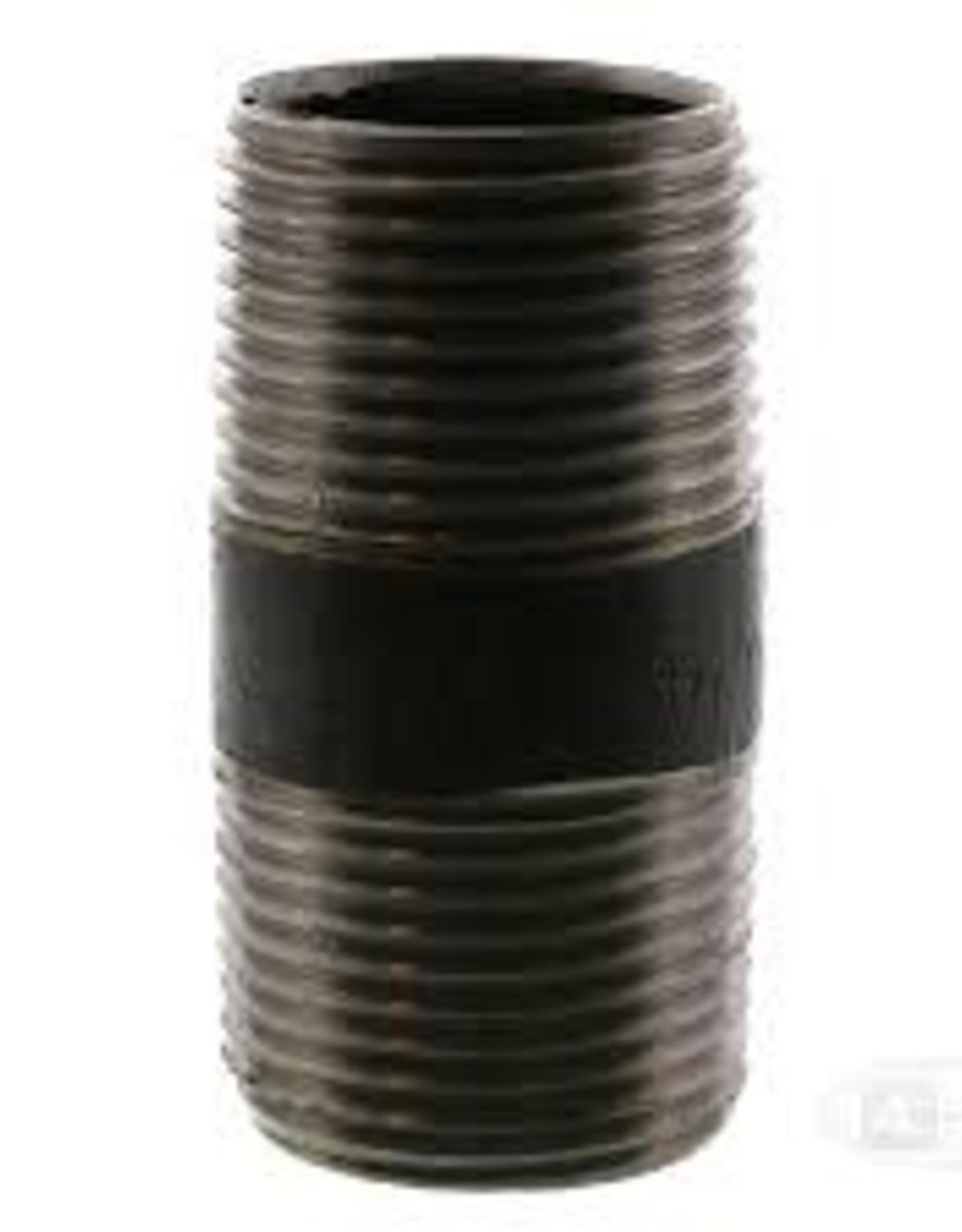 "3/4"" Black Iron Nipple x 1-1/2"""