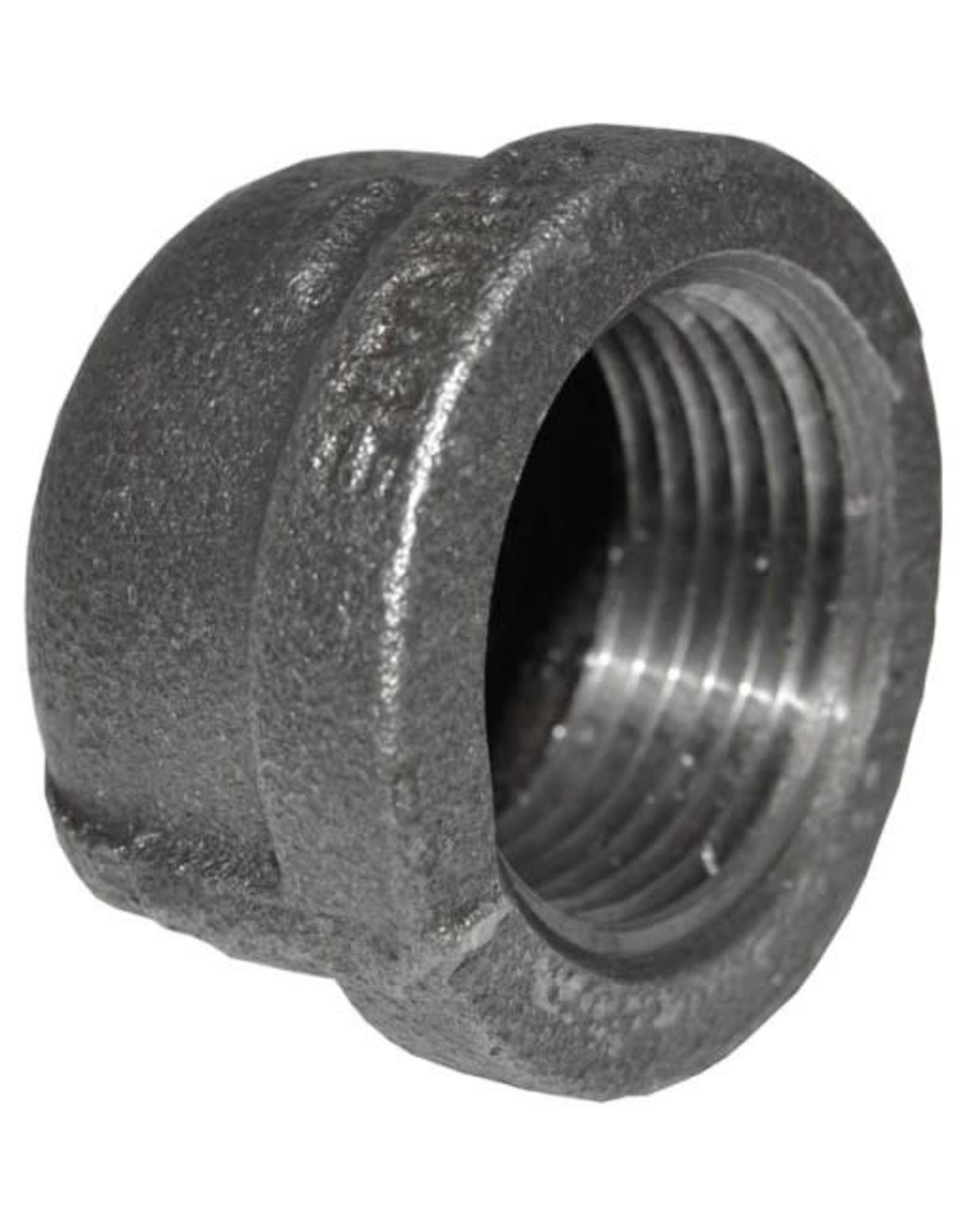 """1"""" Black Iron Cap"""