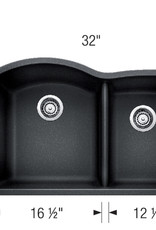 Blanco Blanco Diamond U 1 3/4 Granite Undermount Kitchen Sink