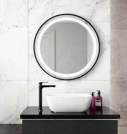 """Kalia Kalia Effect LED Black Round Collection 30"""" Mirror"""