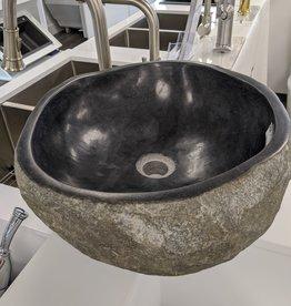"Buckstone River Stone Sink- 16"" x 16"" x 6"""