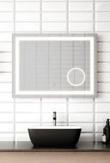 """Kalia Kalia Effect LED Rectangle Collection 32"""" x 24""""  Mirror w/ Magnifying Mirror"""