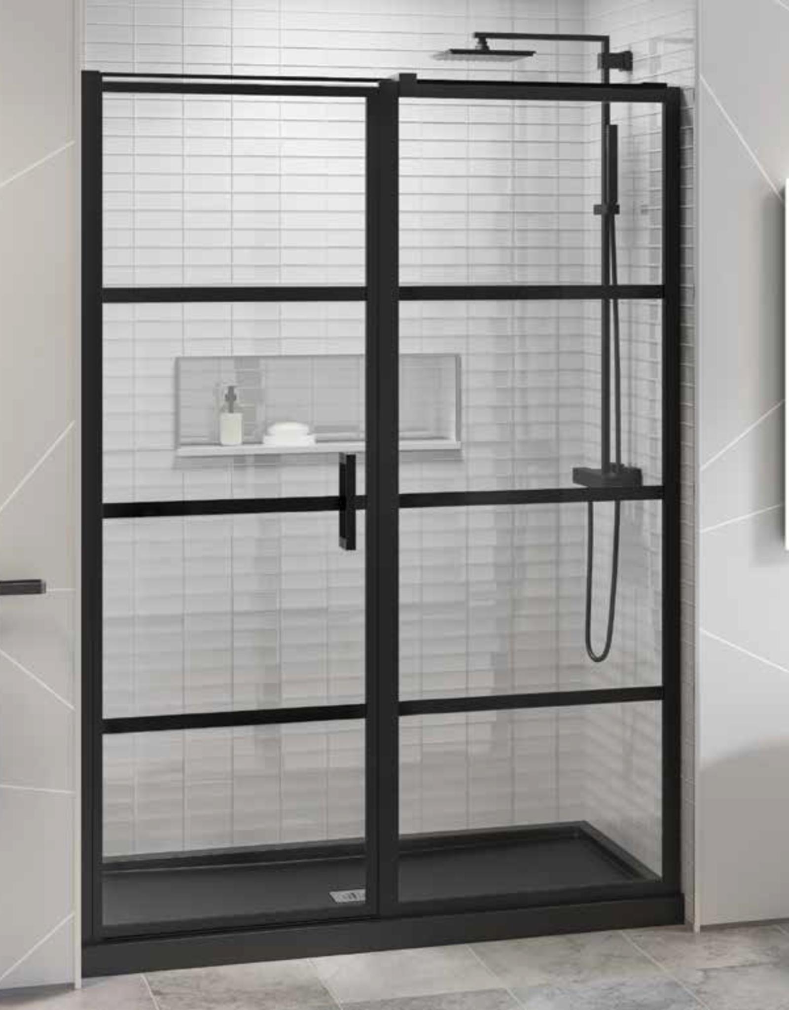 Fleurco Fleurco Latitude In-Line 60 Matte Black/Clear Pivot Door