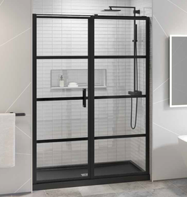 Fleurco Fleurco Latitude In-Line 60 Matte Black/Clear Pivot Door