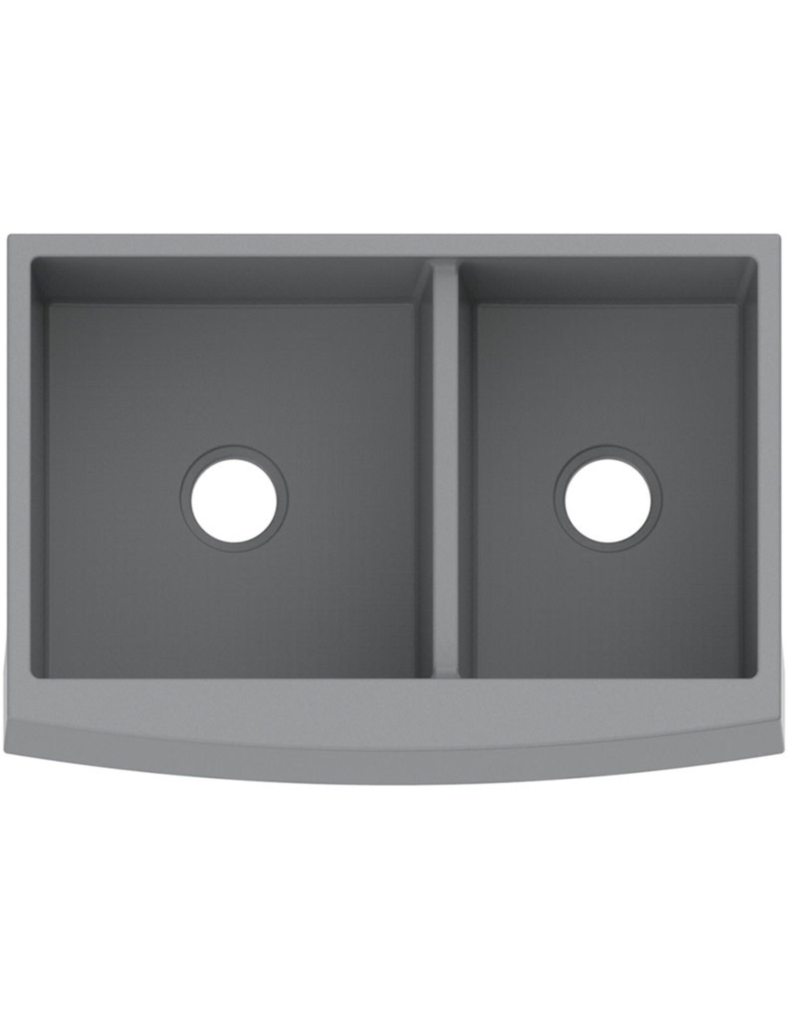 """Vogt Vogt Polten Doppelt GS Vogranite Apron Front Kitchen Sink Double Bowl (50/50) 32 ¾ """" x 22 ¼"""" x 9 ½"""""""