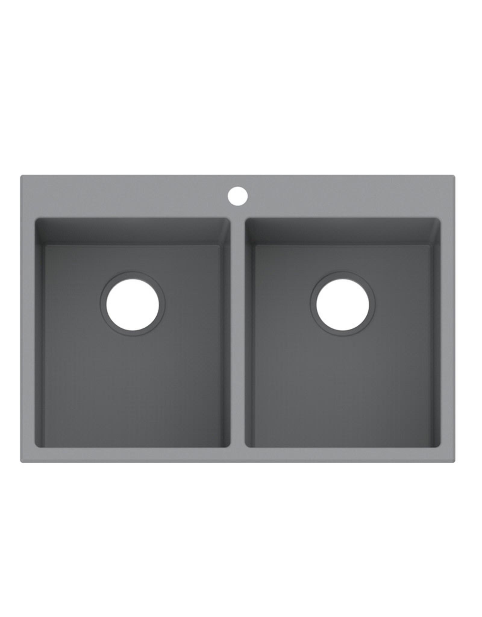 """Vogt Vogt Rankweil GS Vogranite Drop-In Kitchen Sink (50/50) 30"""" x 20"""" x 9"""""""